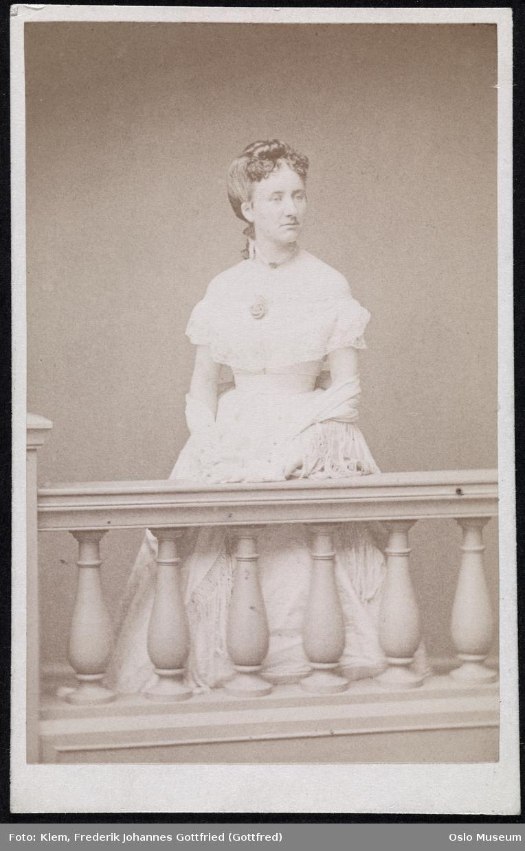 portrett, kvinne, komtesse, stående hefigur
