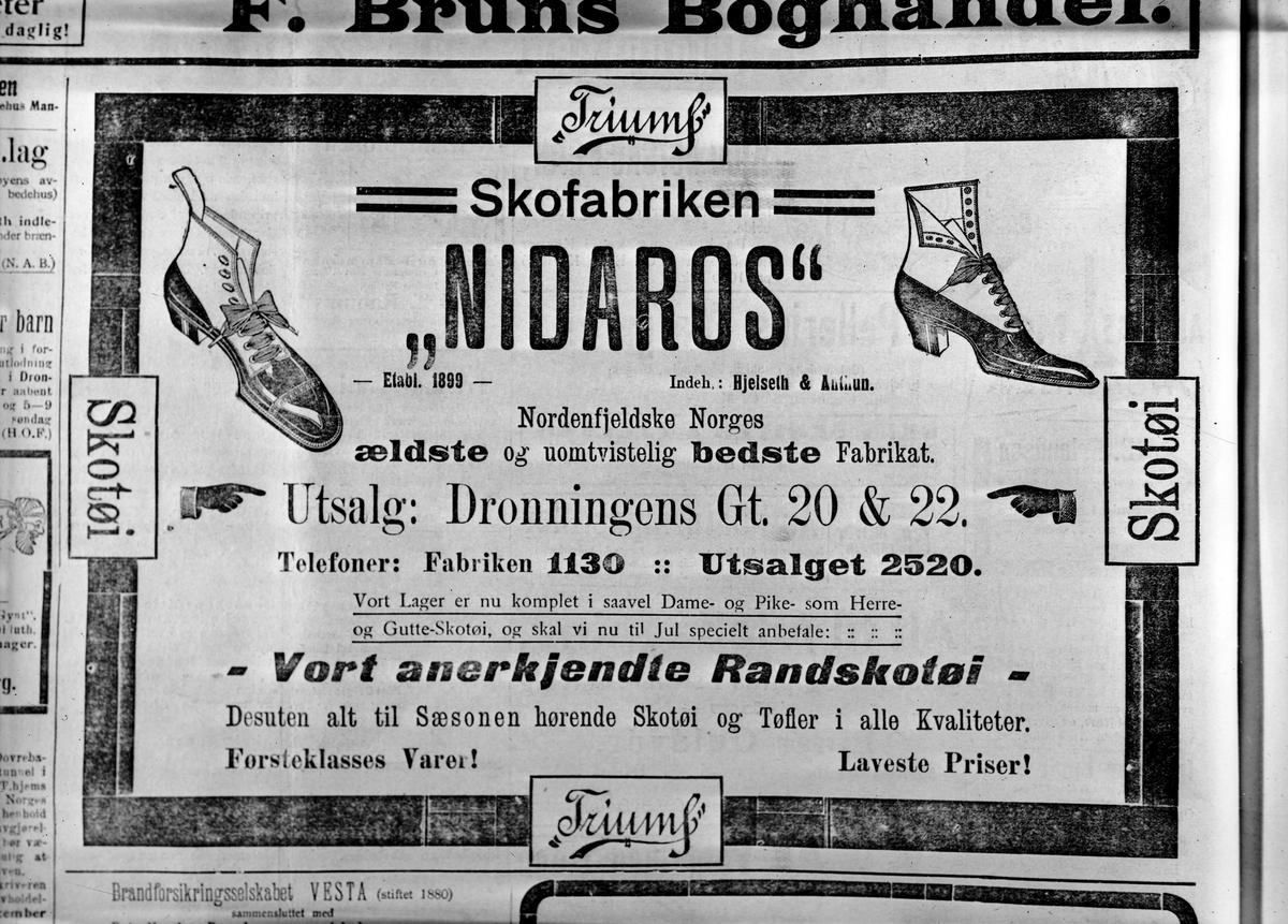 Gamle annonser fra Adresseavisen