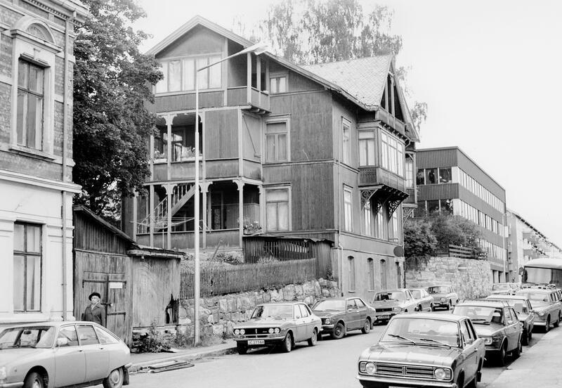 Tordenskjoldsgate, Gjøvik, 1979. Foto: Morten Krogstad / Mjøsmuseet. (Foto/Photo)