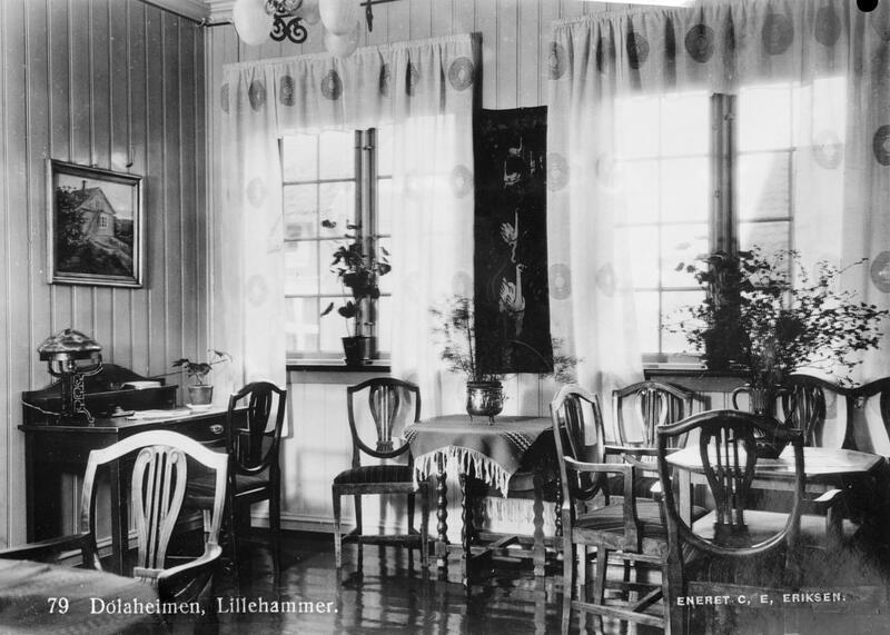 Dølaheimen hotell, Lillehammer, ca. 1923-37. Foto: Maihaugen. (Foto/Photo)