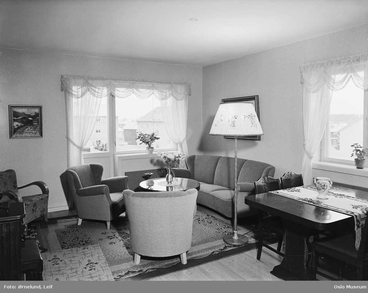 boligblokk, interiør, stue, salong