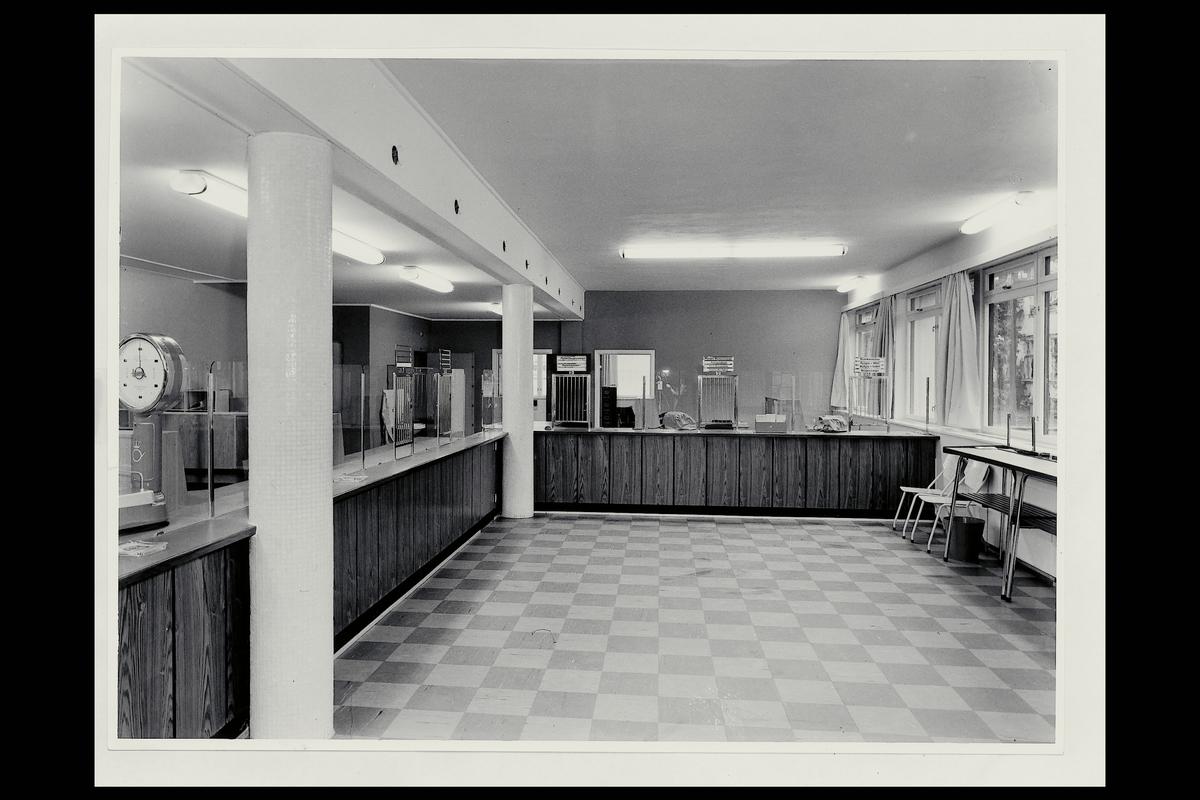 interiør, postkontor, 3190 Horten, publikumshall, vekt