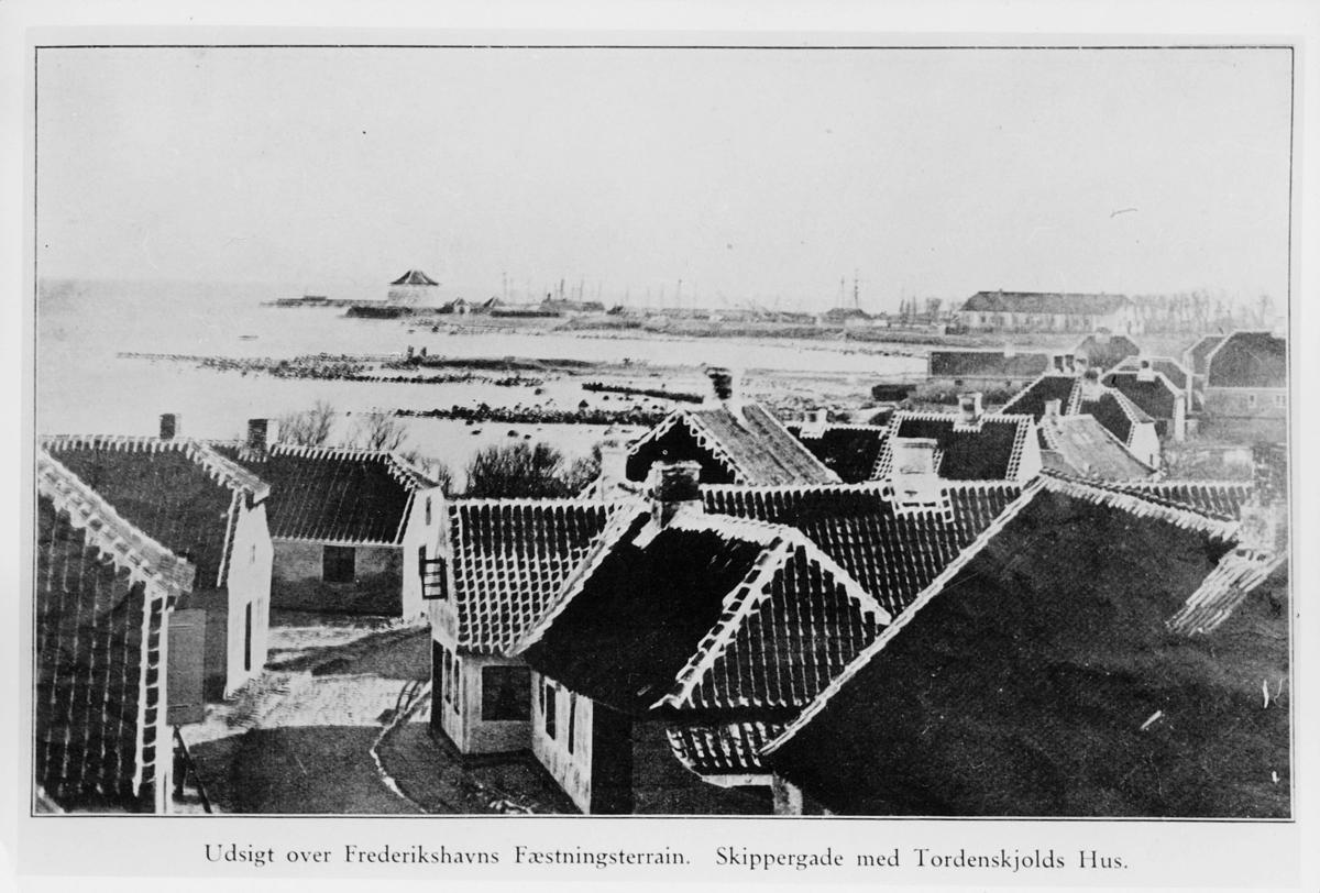 foto av tegning, Fredrikshavns Fæstningterrain