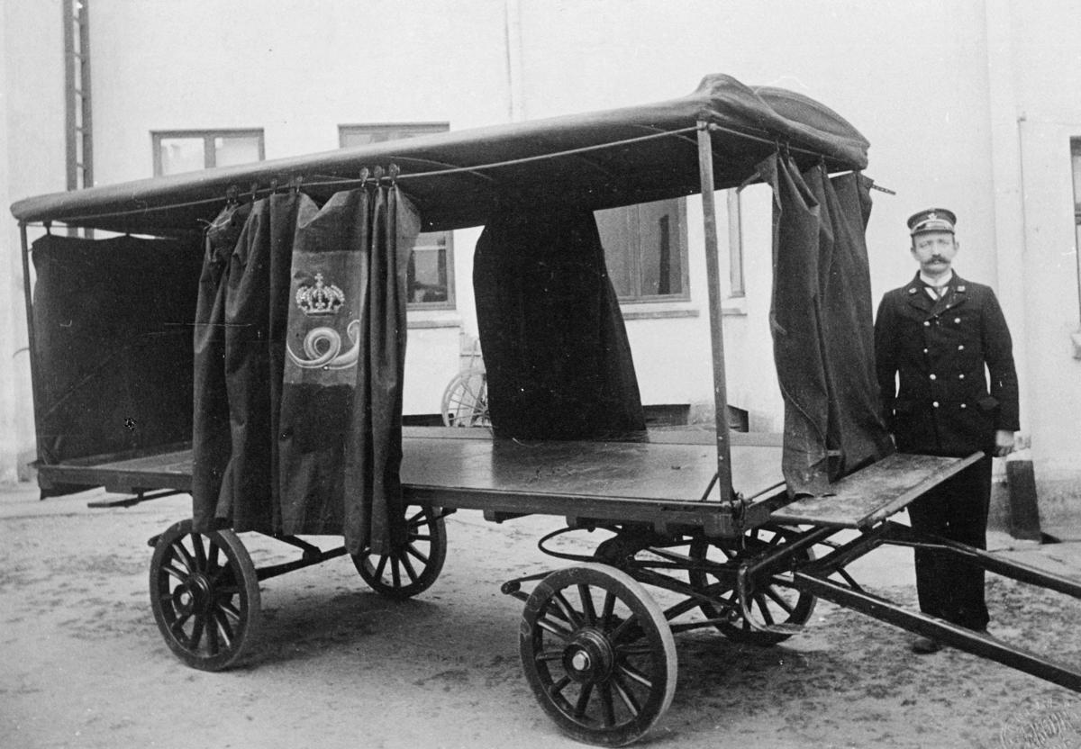 transport, hest, vogn fire hjul, mann, Kristiansand