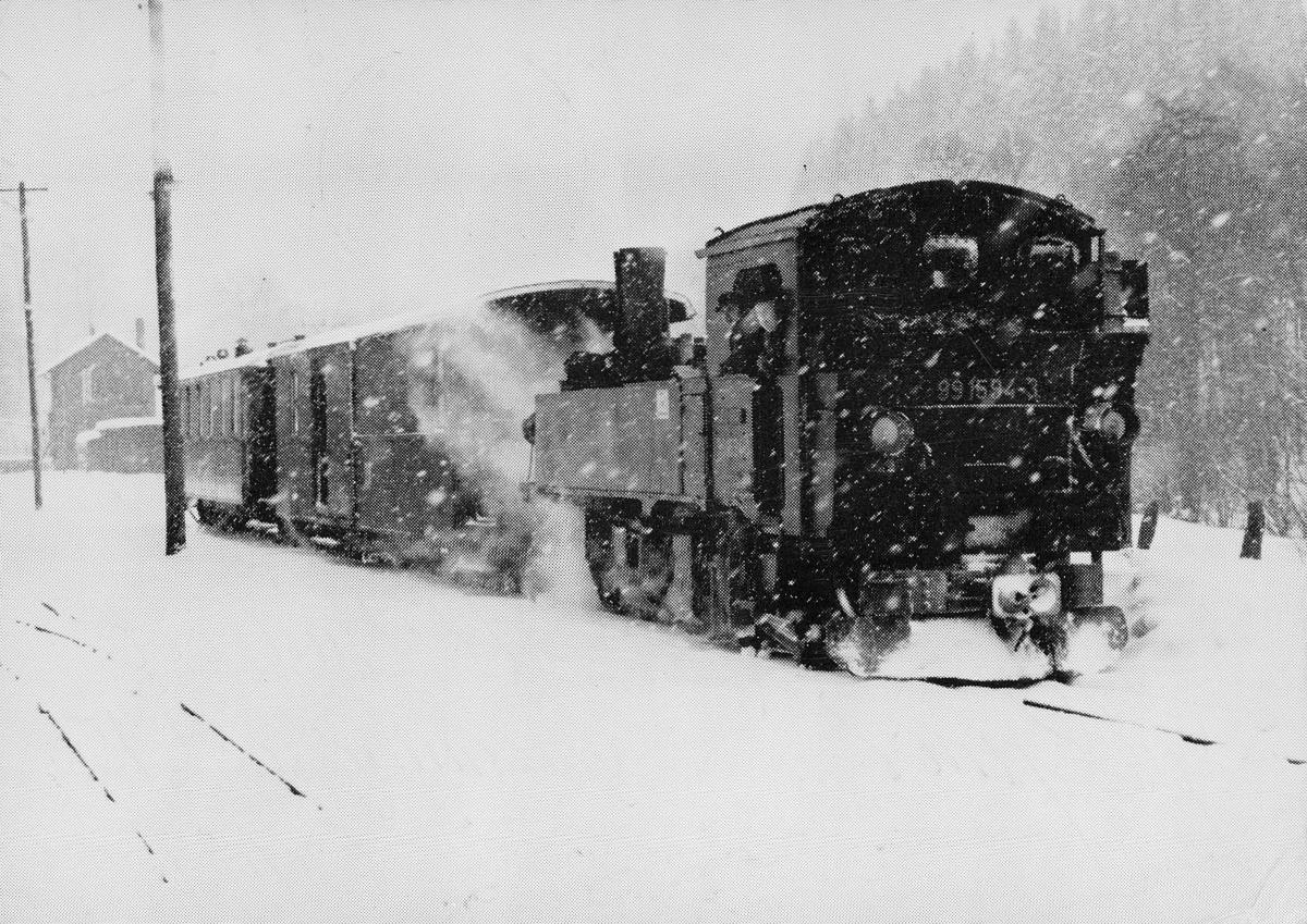 """transport, tog, Urskog-Hølands banen, lokomotivet """"Bingfos"""""""