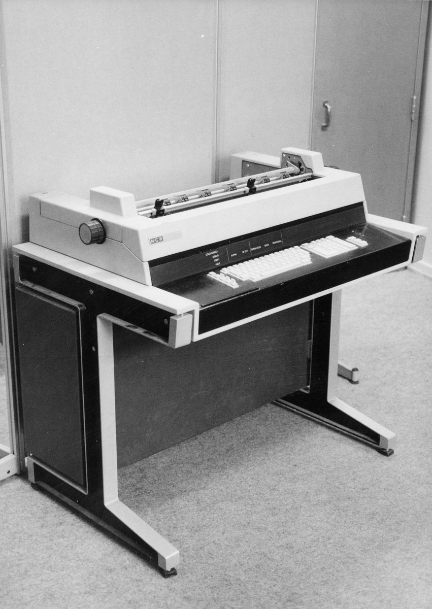 diverse, regnskapskontoret, bokholderimaskin, 30.11.1977-1.2.1986