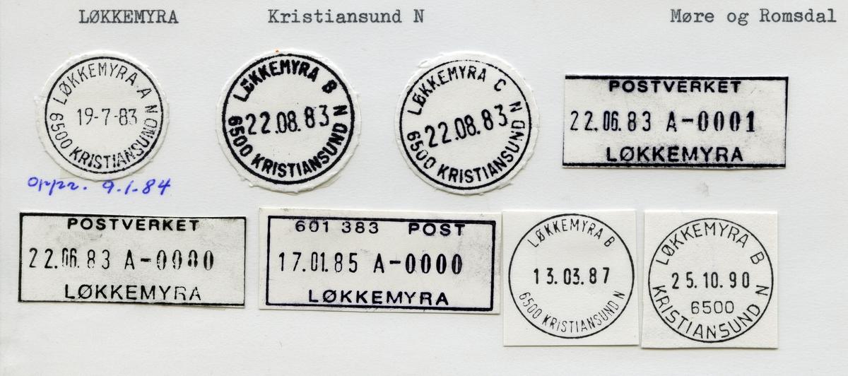 Stempelkatalog, Løkkemyra, Kristiansund kommune, Møre og Romsdal