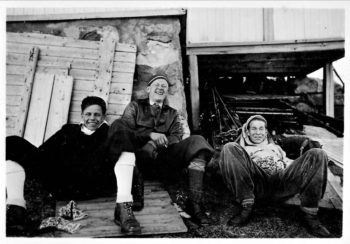 Tre menn, vinter
