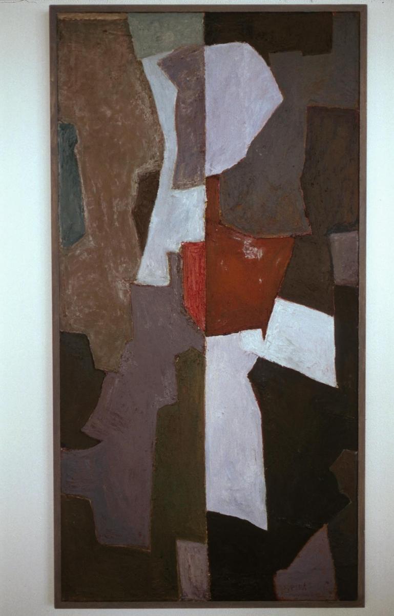 Arbeidet inngår i en utsmykking som består av totalt åtte abstrakte malerier fordelt på seks mindre rettsaler. Hvert bilde har en midtlinje, og på begge sider av denne er det organiske former som holder hverandre i likevekt.