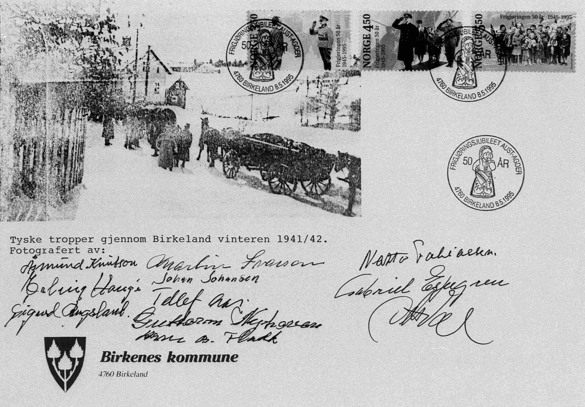 Bilder fra Birkenes kommune FDL - konvolutt - 8. mai 1995