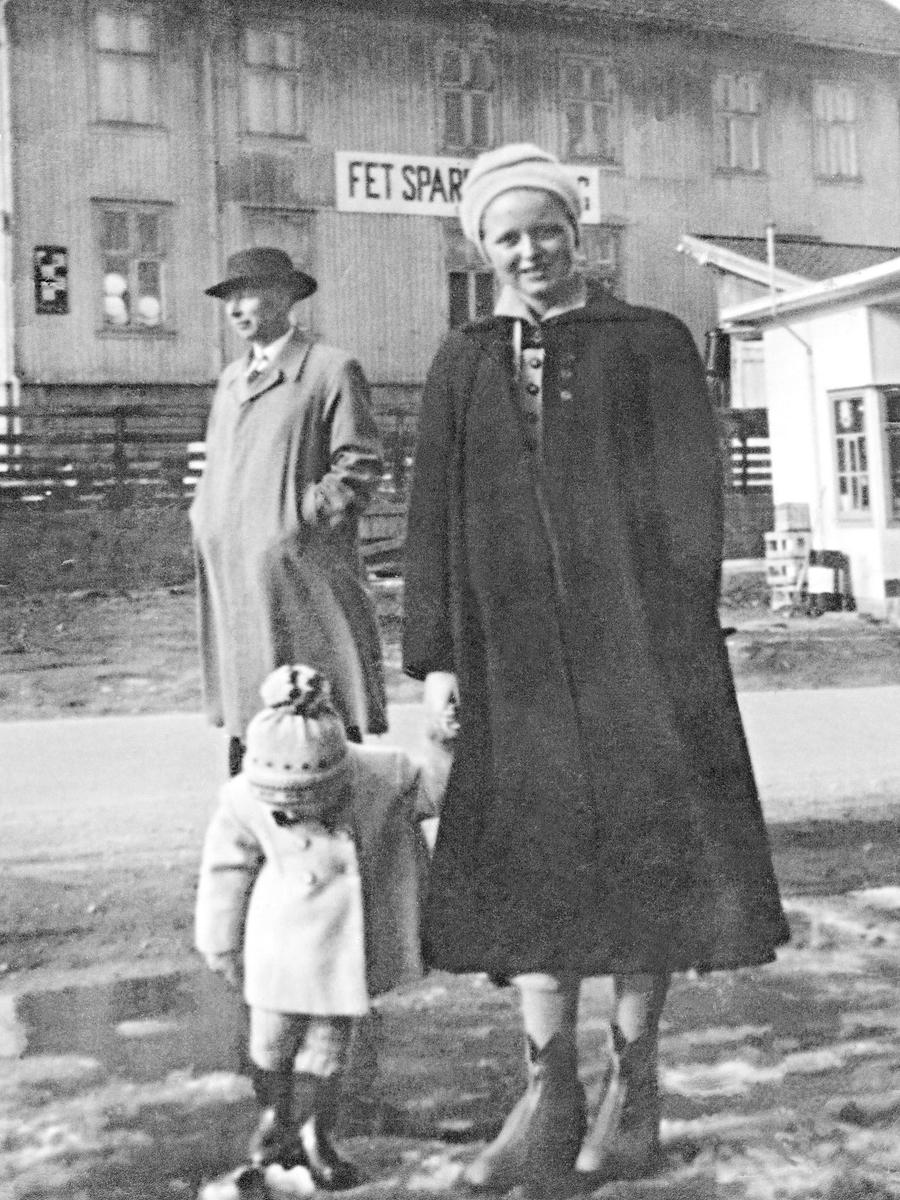 Rosenberg familien. Daniel, Mette og Bjørg.