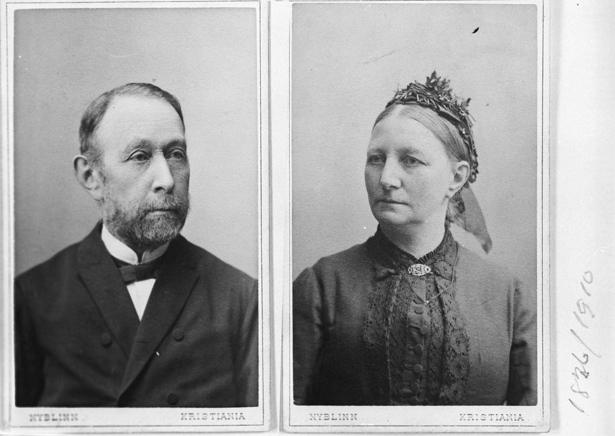 Peter Severin Jacob Daae og hustru Petra Camilla.