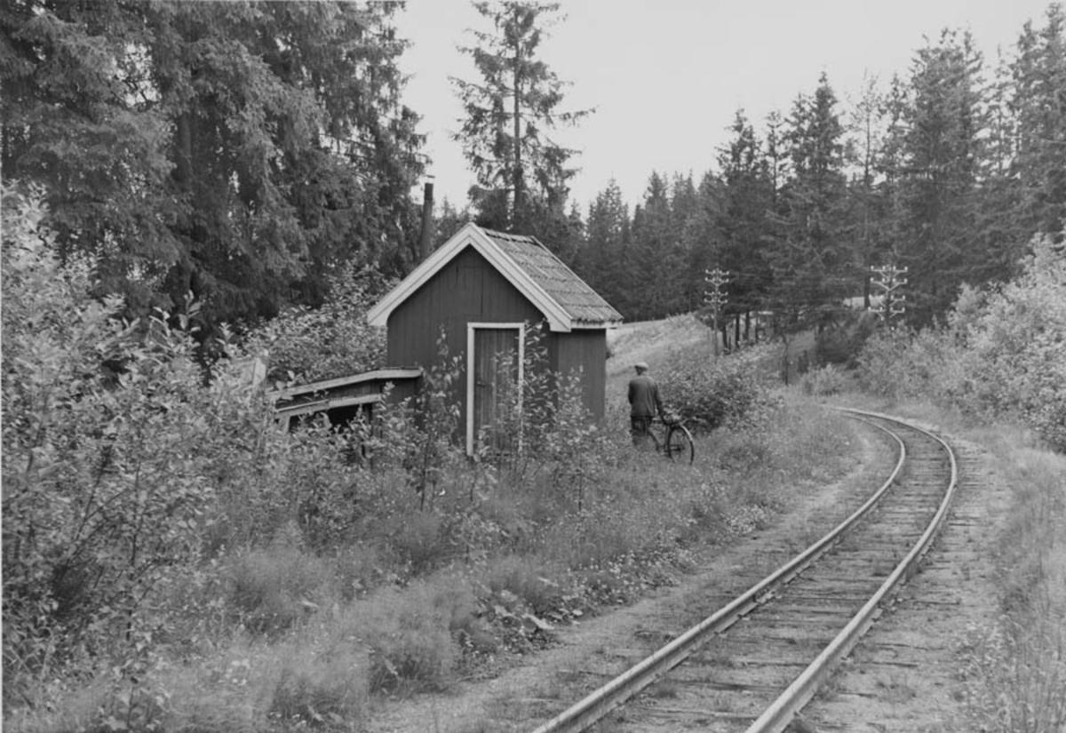 Strekningen Bingsfoss - Fossum, ved Sætra. Hvilebu.