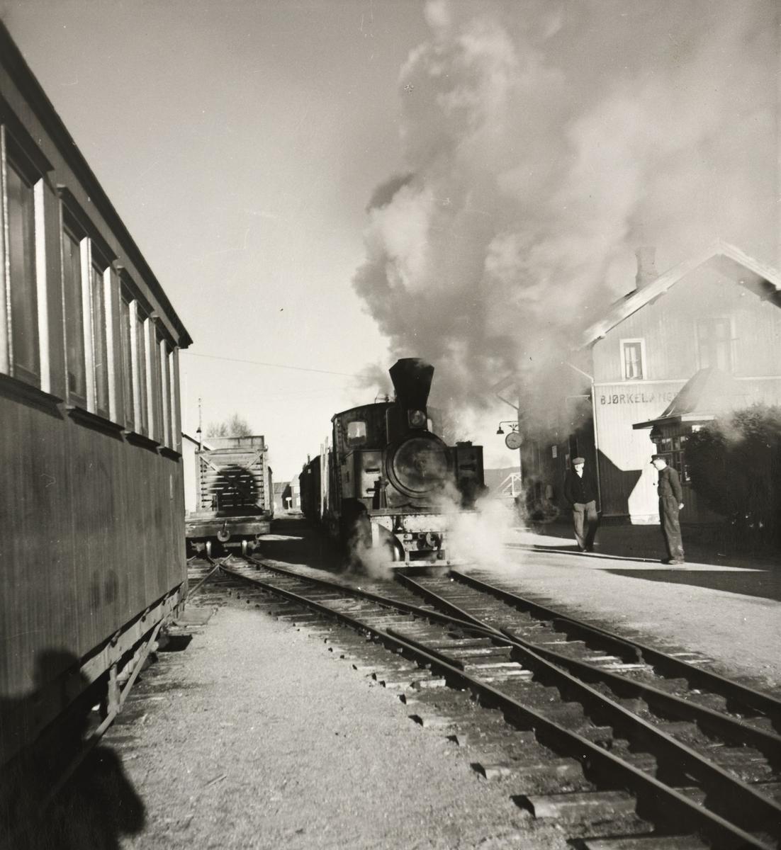 Skifting på Bjørkelangen stasjon