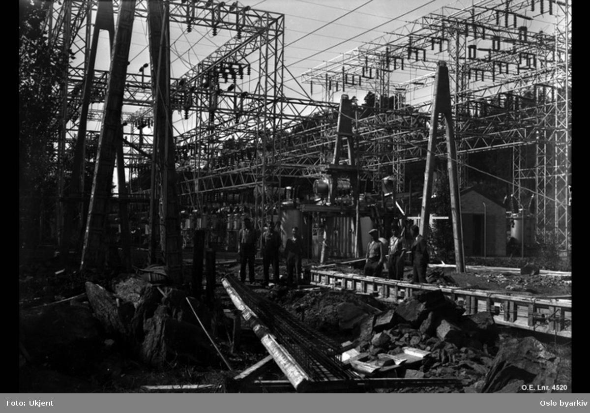 Smestad transformatorstasjon, Rjukanlinjens innføring