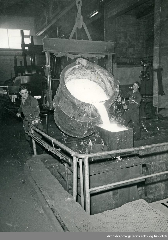 Akers Verft, støperiet. .1962.
