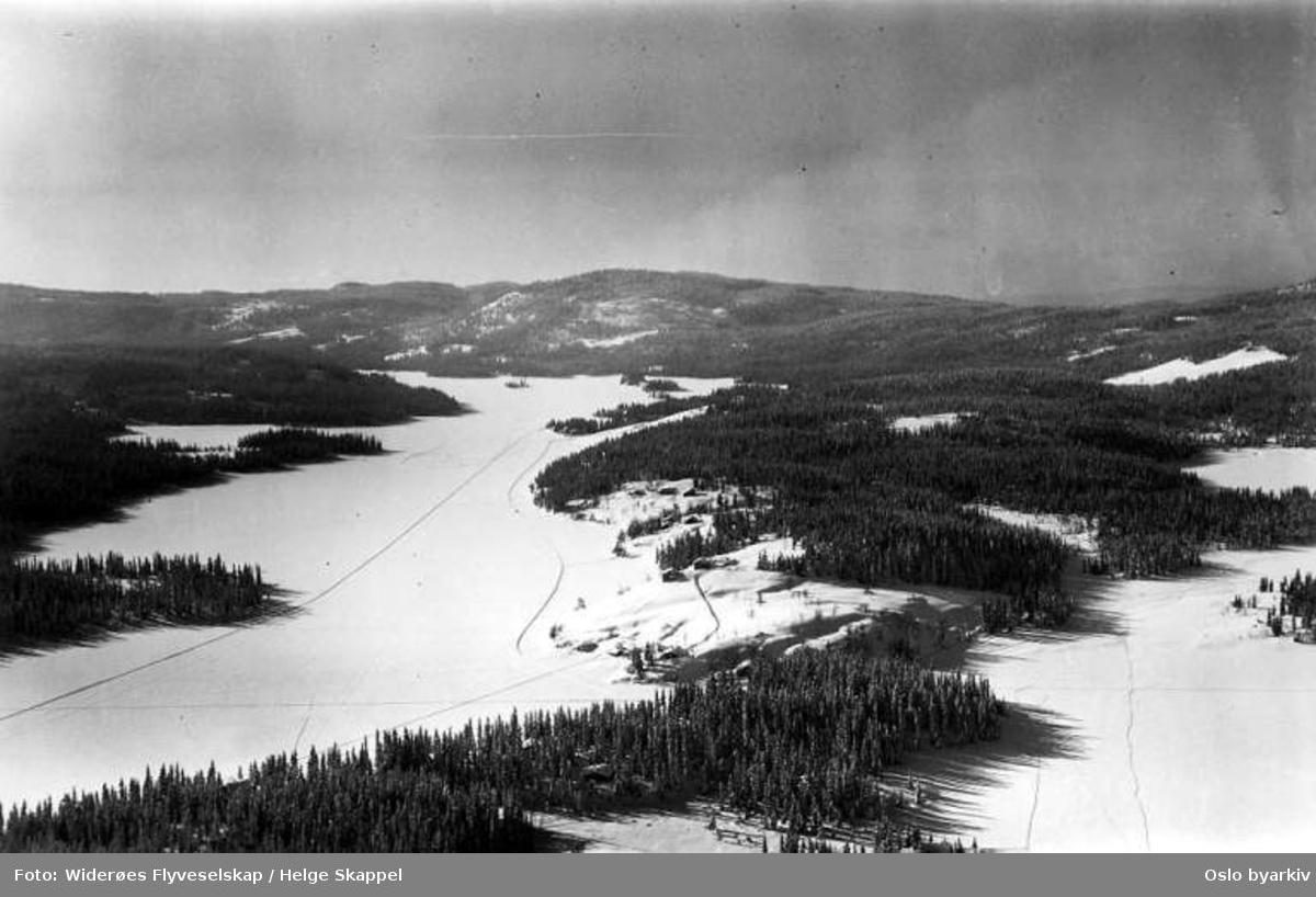Mylla, Lunner kommune (Flyfoto)