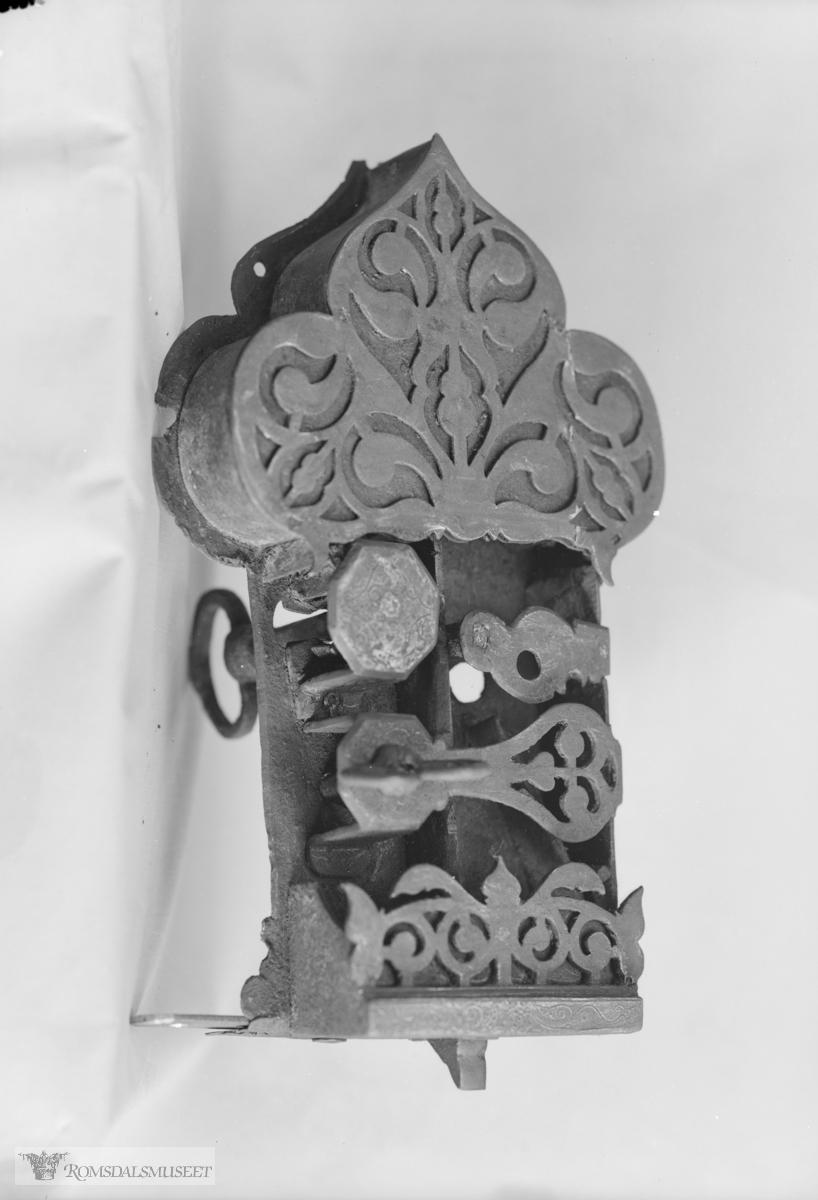 """Stabburlås fra Gussiåsen..Oppbevart på Eidestabburet. .(Eske: """"ogqj1"""")"""
