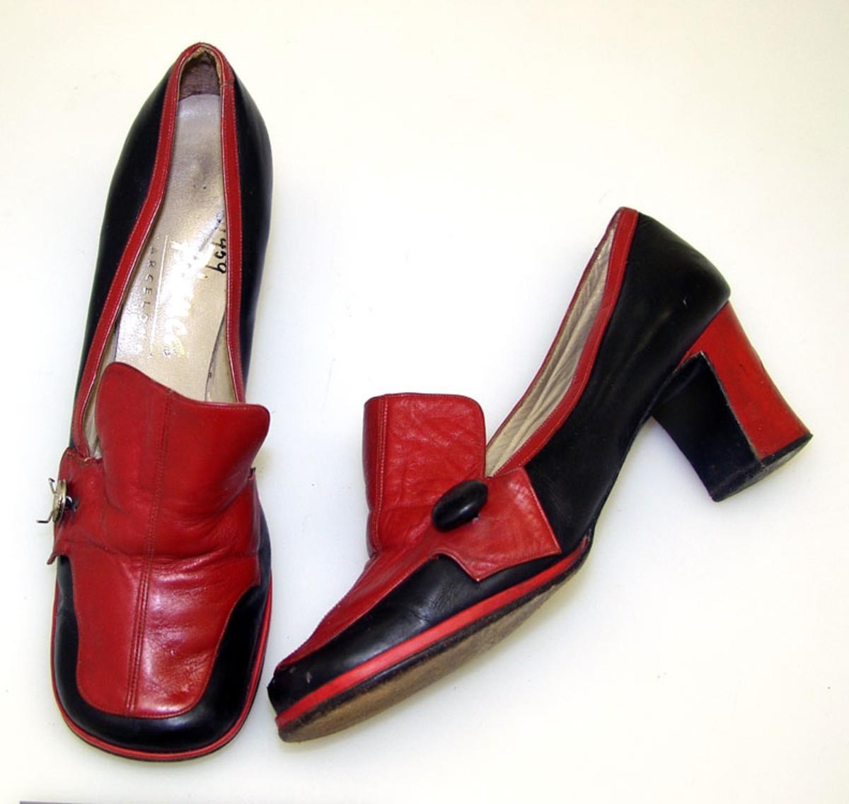 Form: 2-farget, høy hæl