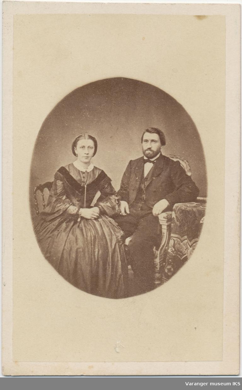 Portrett, Arnt Nicolai og Hemmingine Brodtkorb, ca. 1870