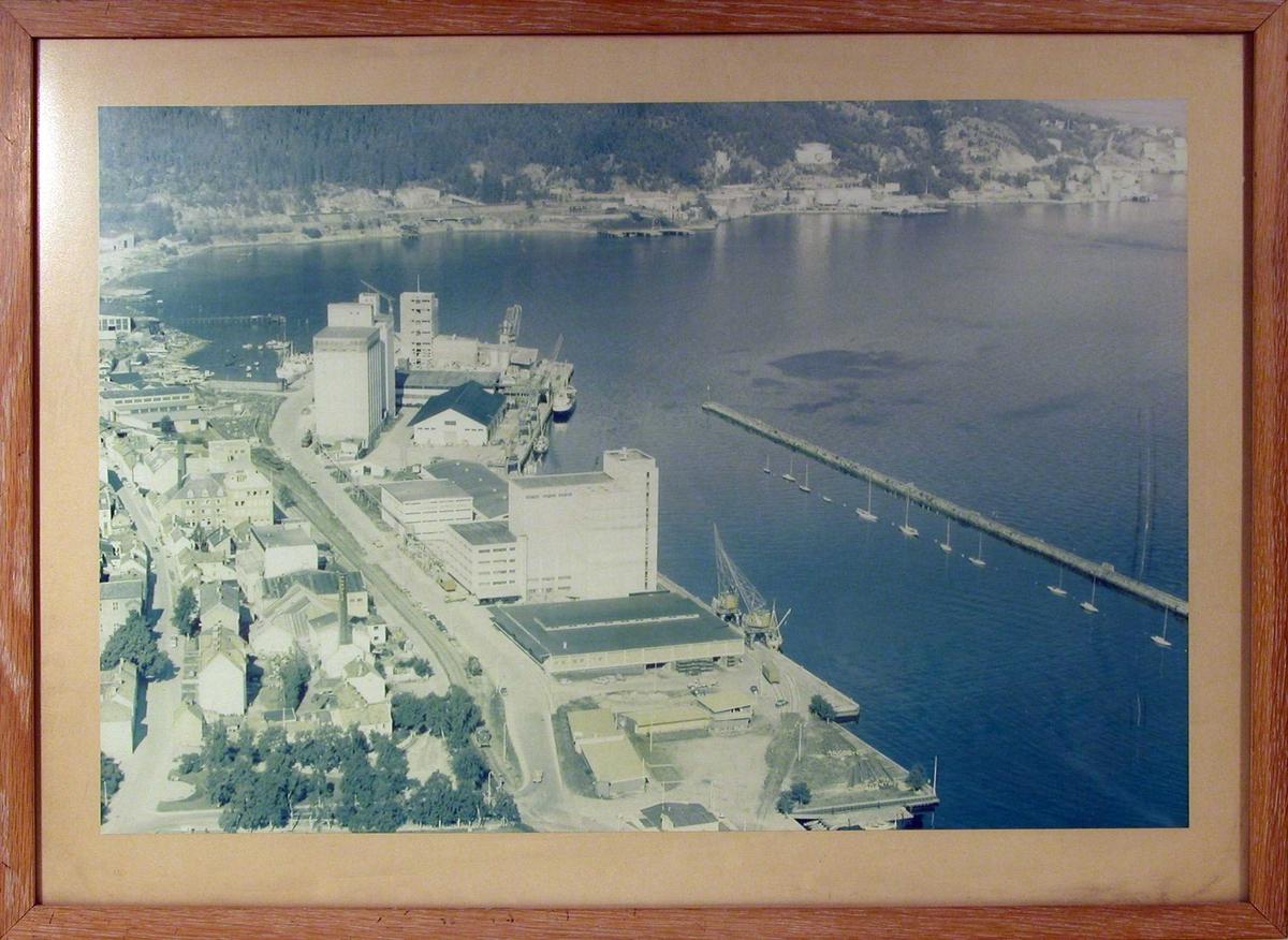 Oversiktsbilde over Nedre Ila og litt av gjestehavnen sett mot vest.