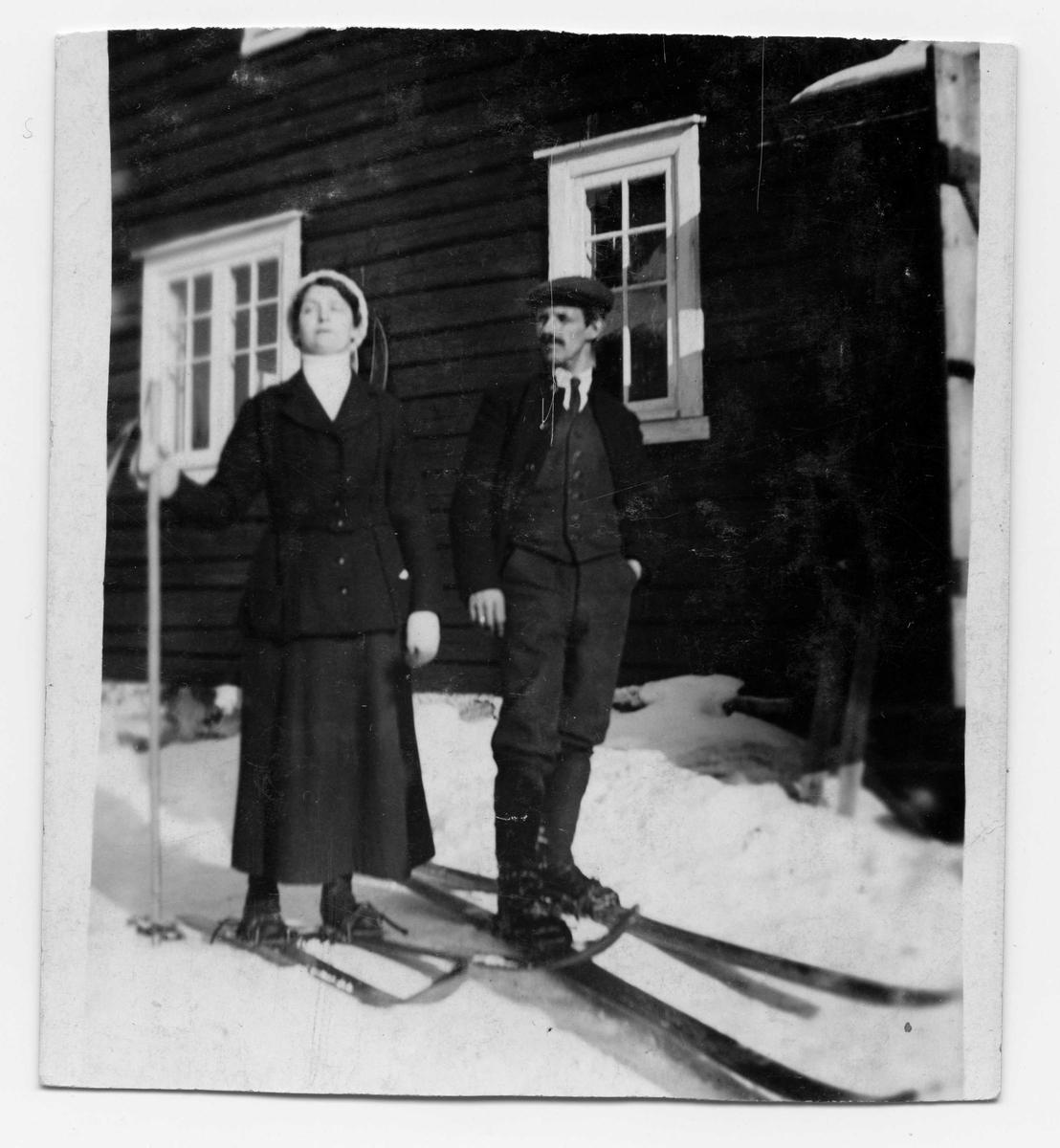 Par på ski, Døvehytta Trondheim