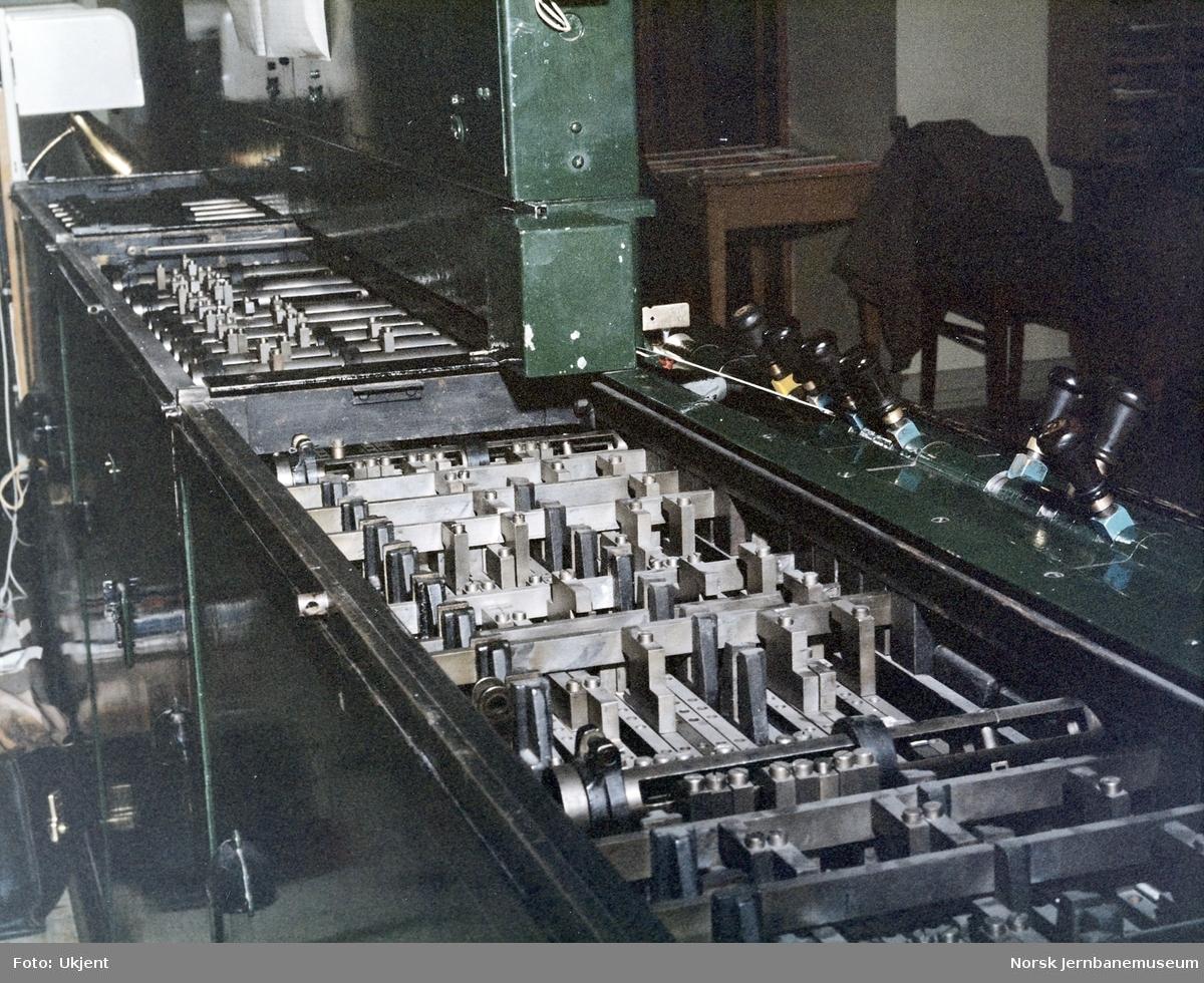 AEG-stillverket på Dombås stasjon : mekanisk register