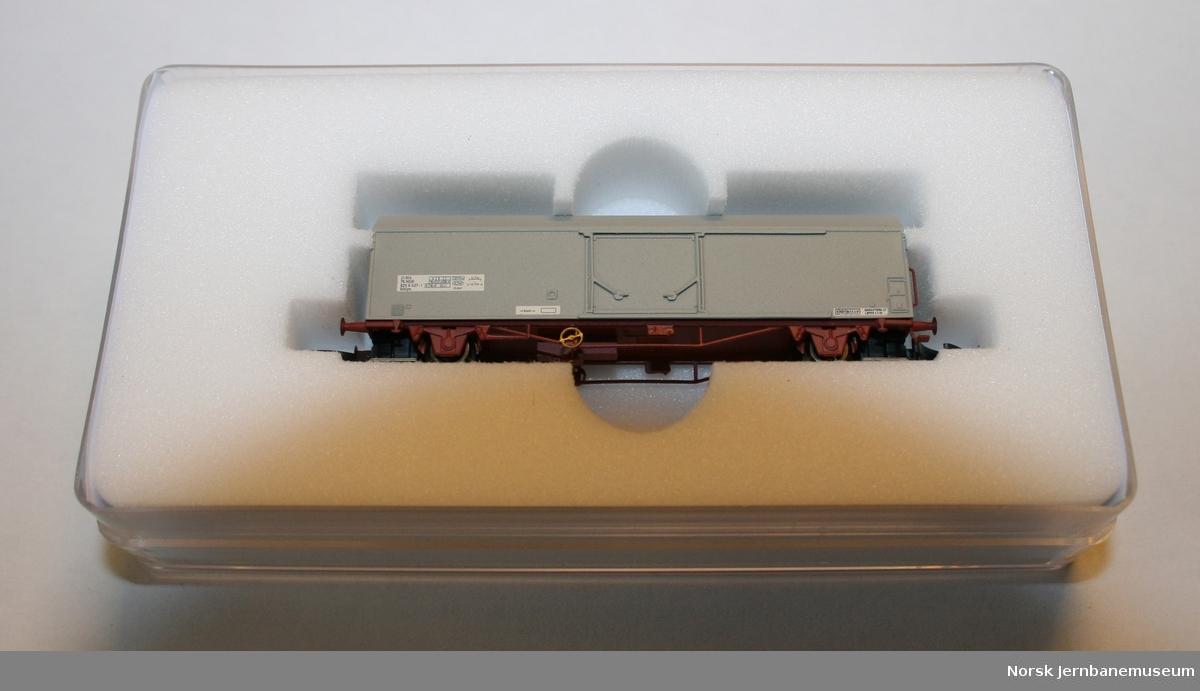 Modell av godsvogn NSB litra Iblps nr. 805 6027 i skala Z, 1:220