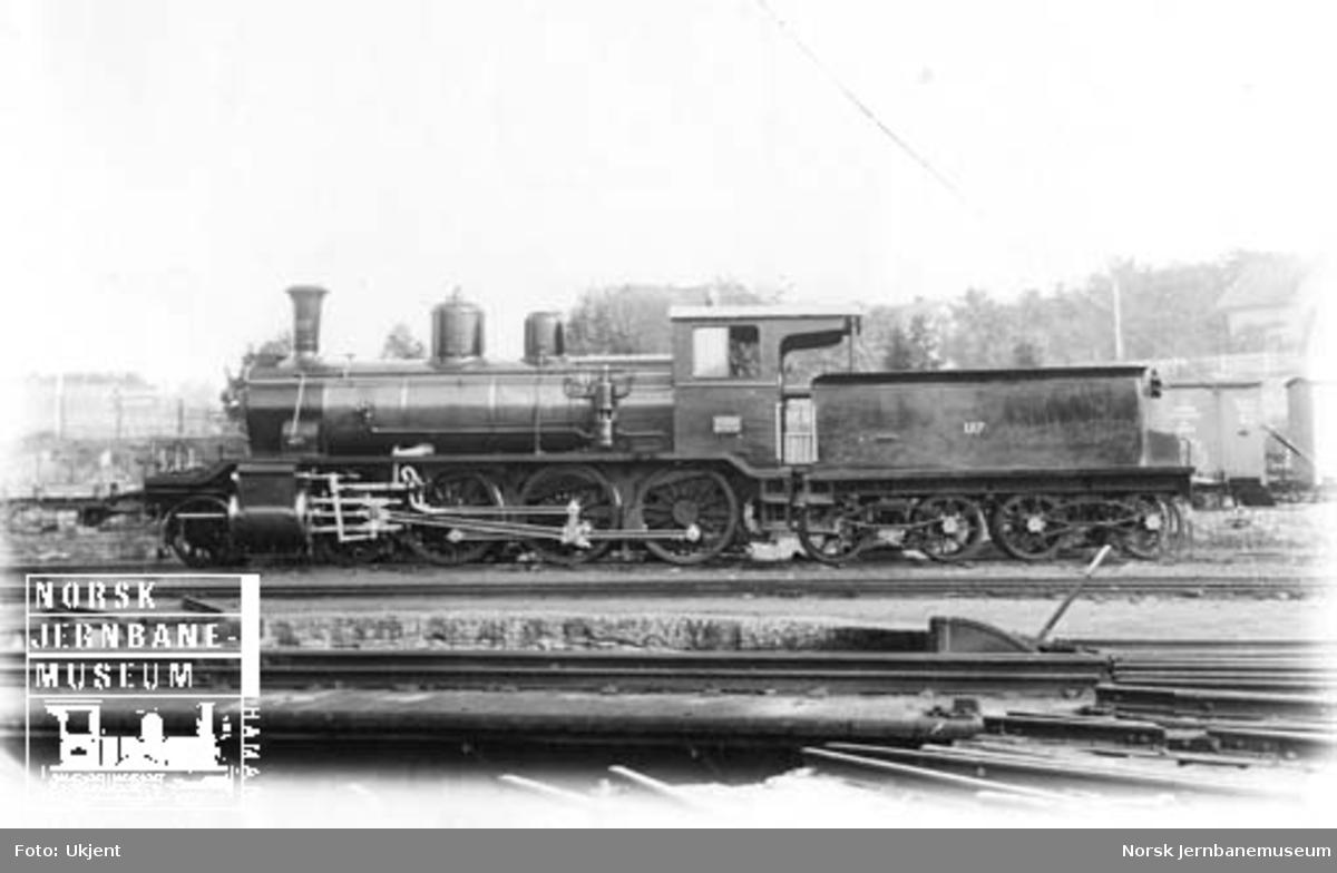 Ofotbanens damplokomotiv type 18a nr. 157 ved levering