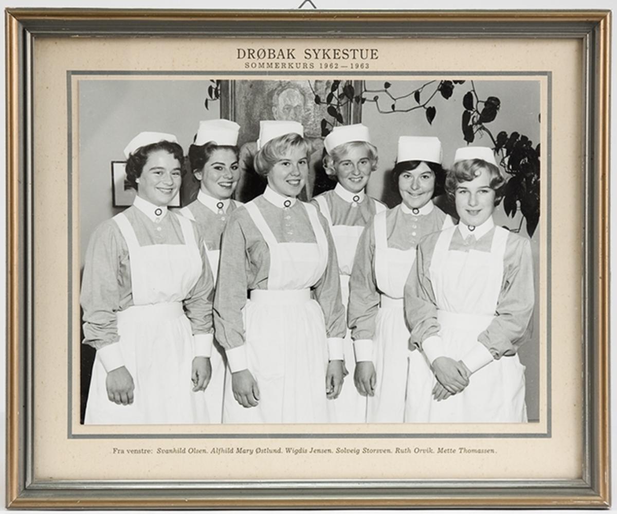 Gruppebilde, sommerkurs ved Drøbak Syke- og fødestue 1962-63