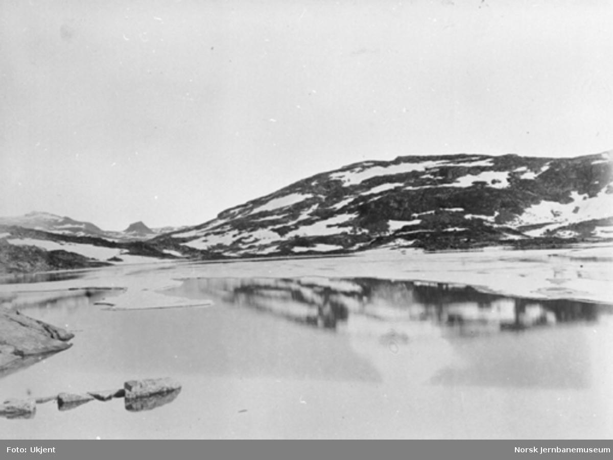 Bergensbanens anlegg; parti ved Lågheller