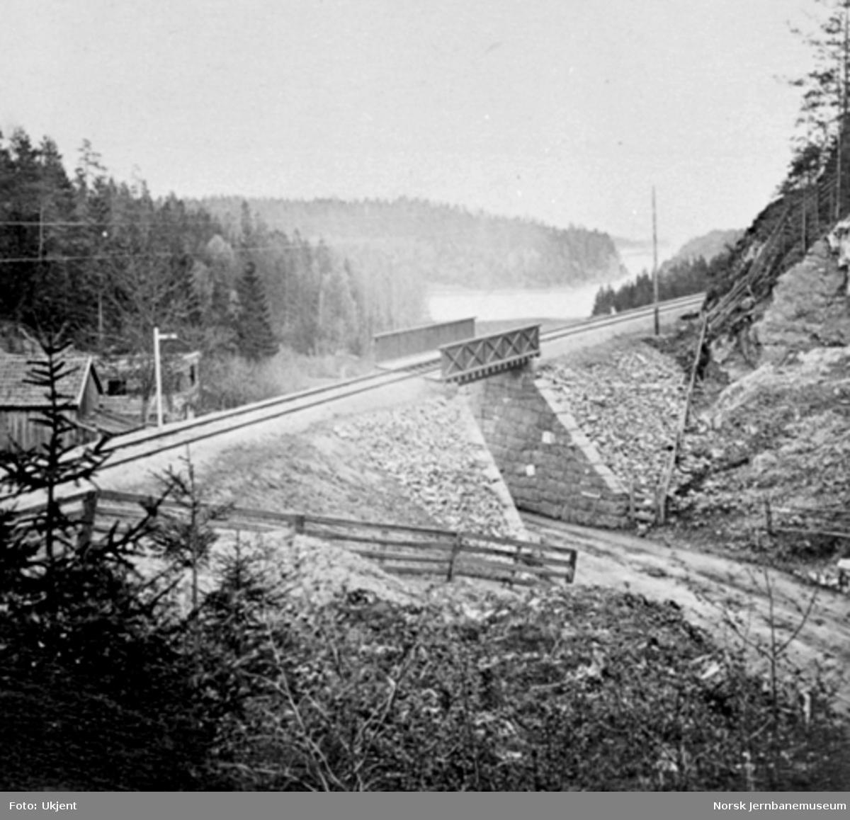 Jernbanetraseen ved Slependen