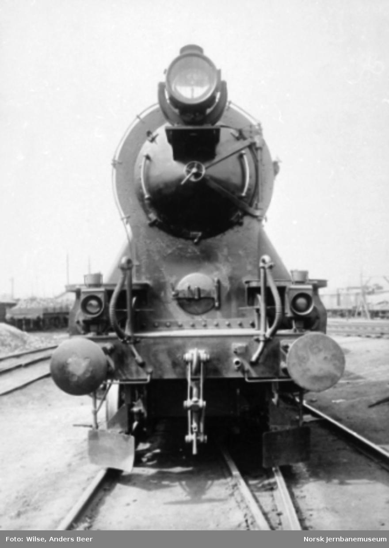 Hovedbanens damplokomotiv litra A nr. 4 sett forfra