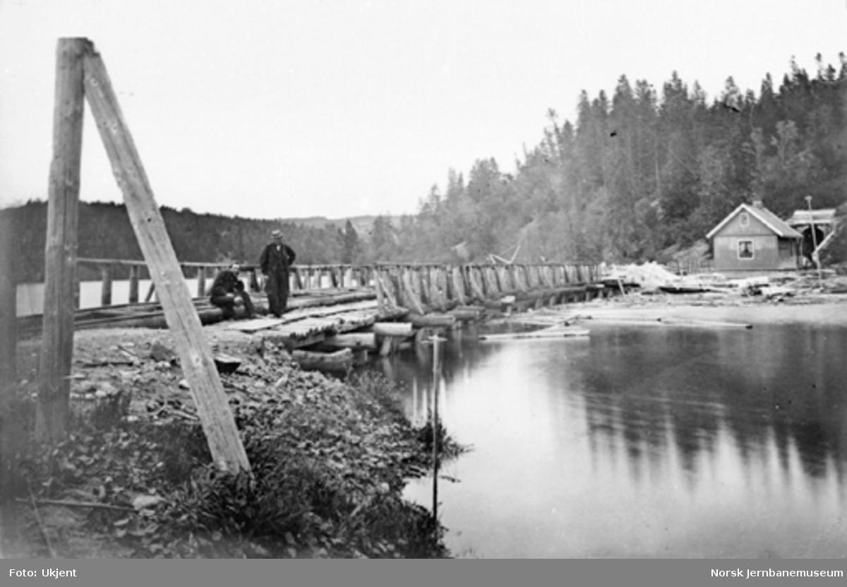 Den gamle trebrua nord for Eidsvoll tunnel