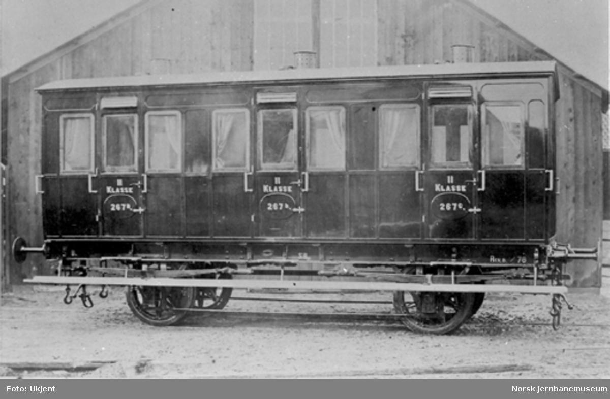 2. klasses personvogn til Smaalensbanen litra B nr. 267 : leveransefoto