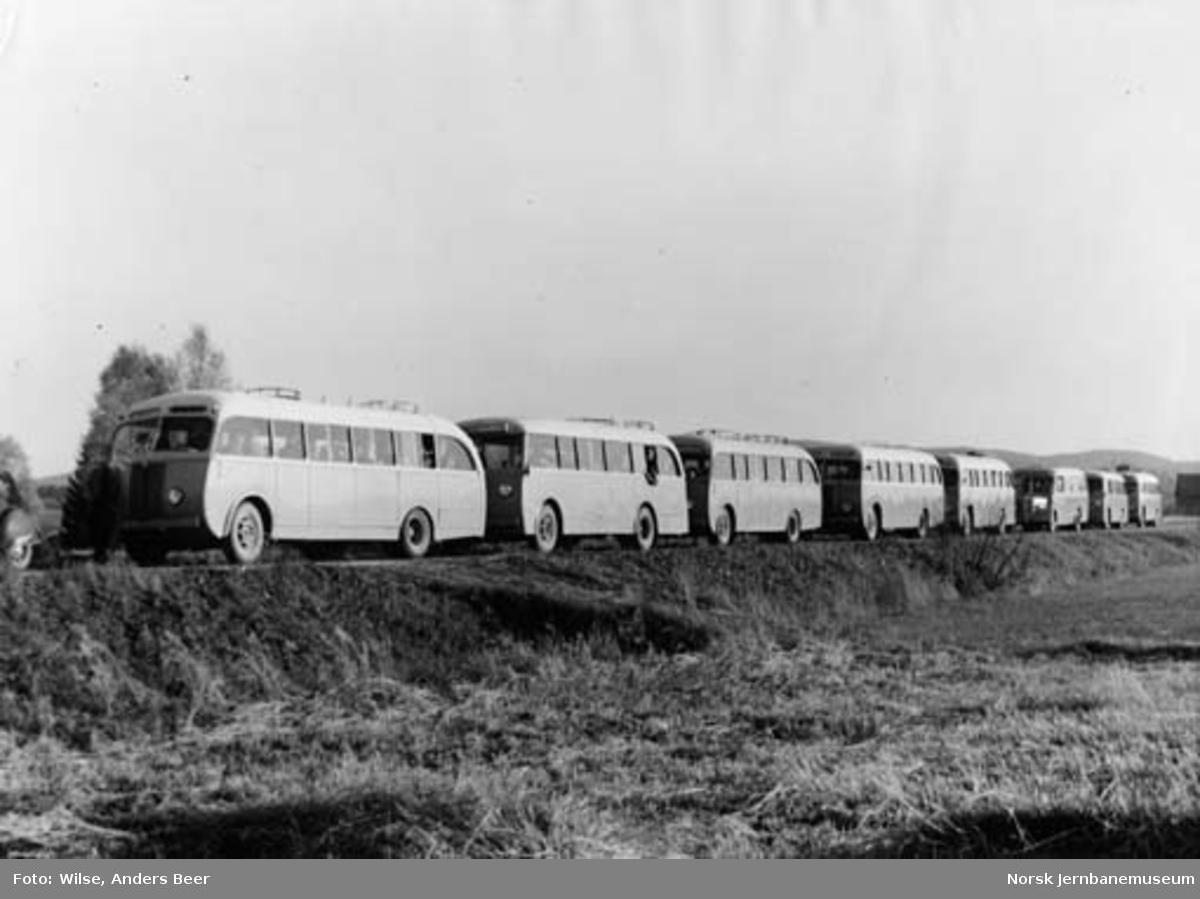 Åtte busser fra NSB mellom Frogner og Kløfta