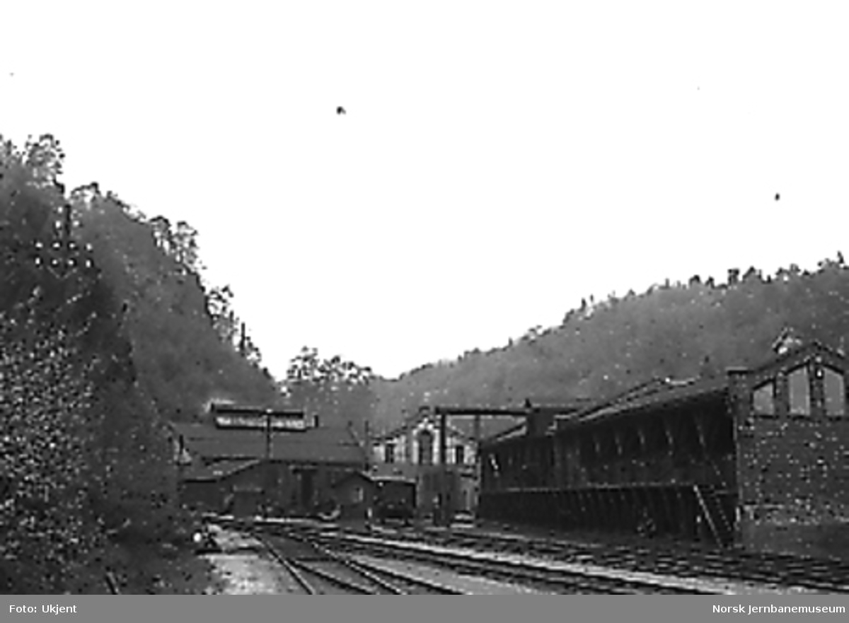 Kullskur, lokomotivstall og verkstedsbygning på Arendal stasjon