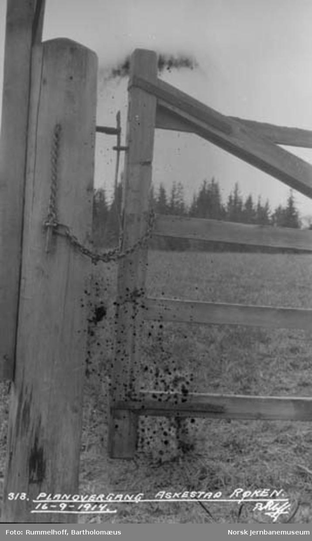 Grind for planovergang ved Askestad i Røyken