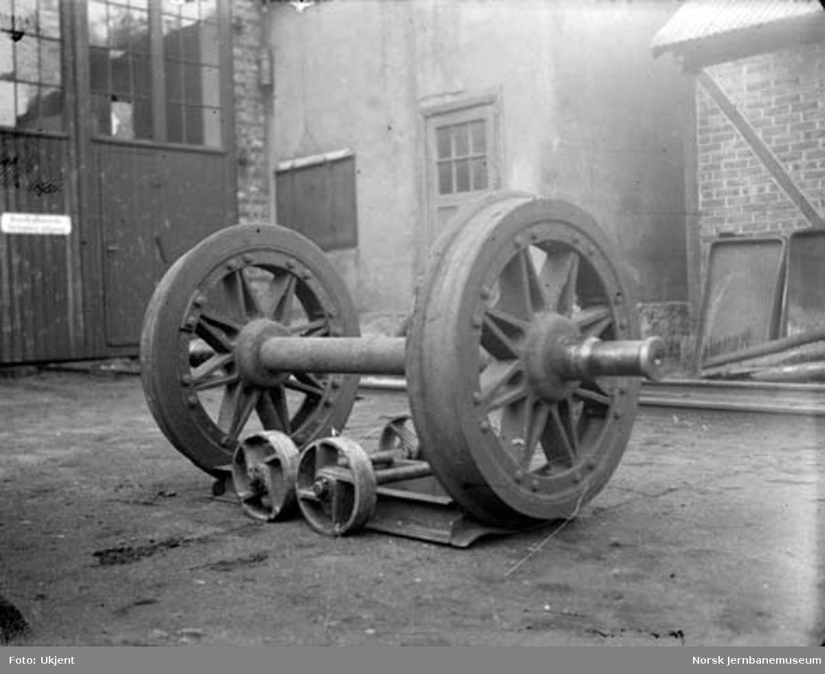 Verkstedtralle : kombinert for flytting av hjul og transport (vendbar)