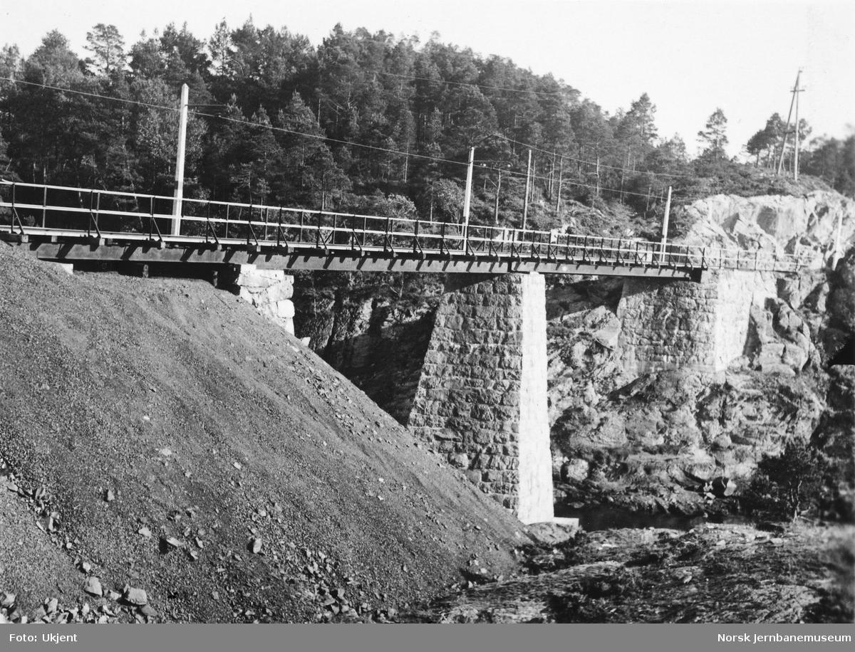 Bru på gruvebanen til Stordø kisgruver