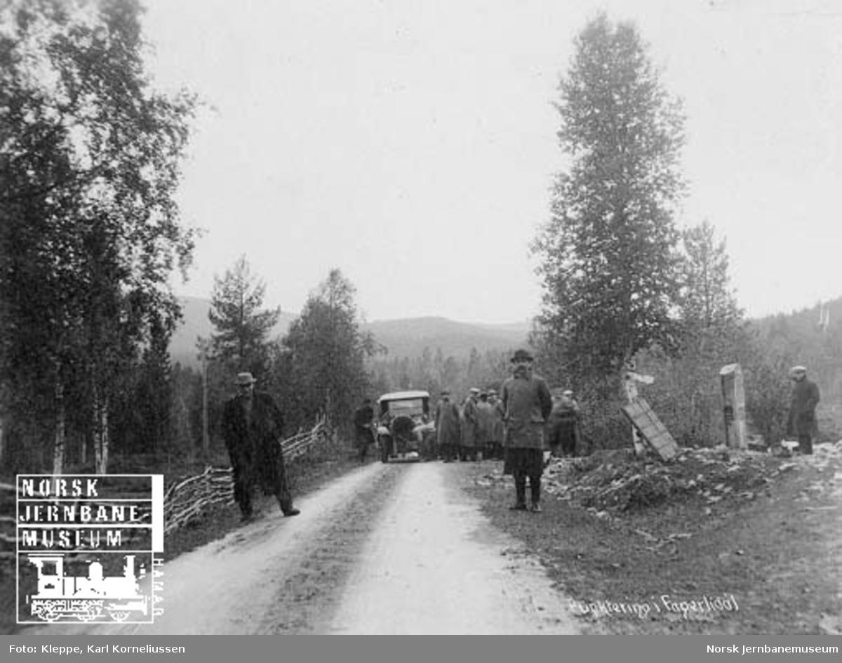 Befaring av Tromsbanen : punktering i Fagerlidal
