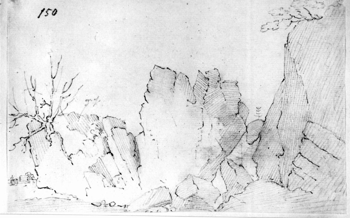 """LarkollenFra skissealbum av John W. Edy, """"Drawings Norway 1800""""."""