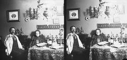 Interiør stue, familiemedlemmene Axel Q.Wiborg og Edle Wibor