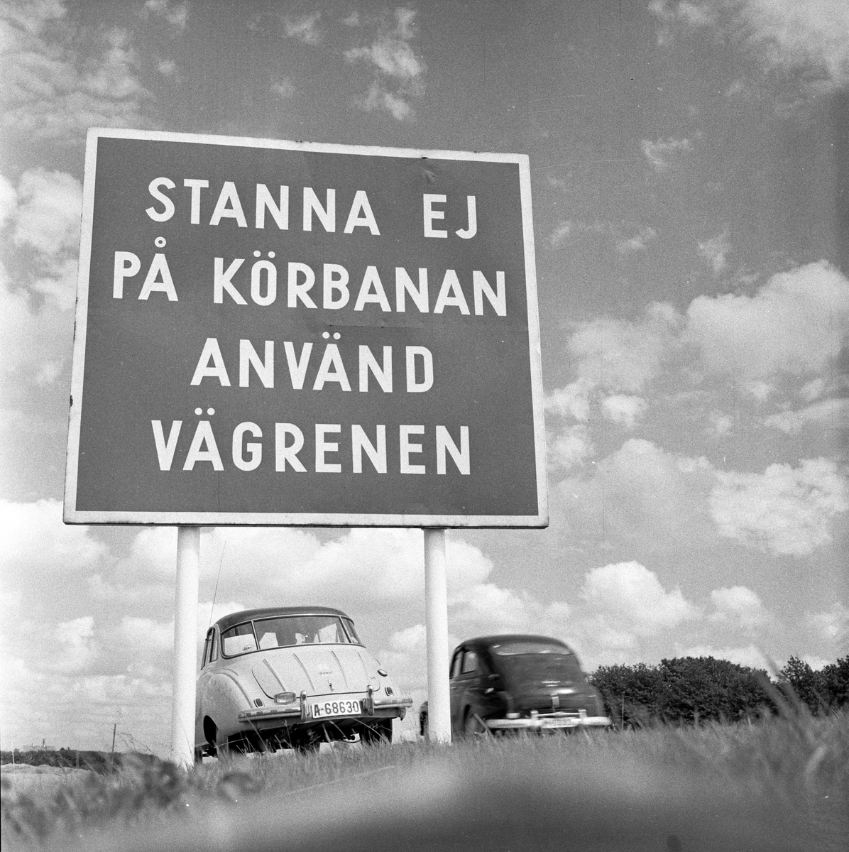 Serie. Motorvei (autostrada) mellom Lund og Malmø.