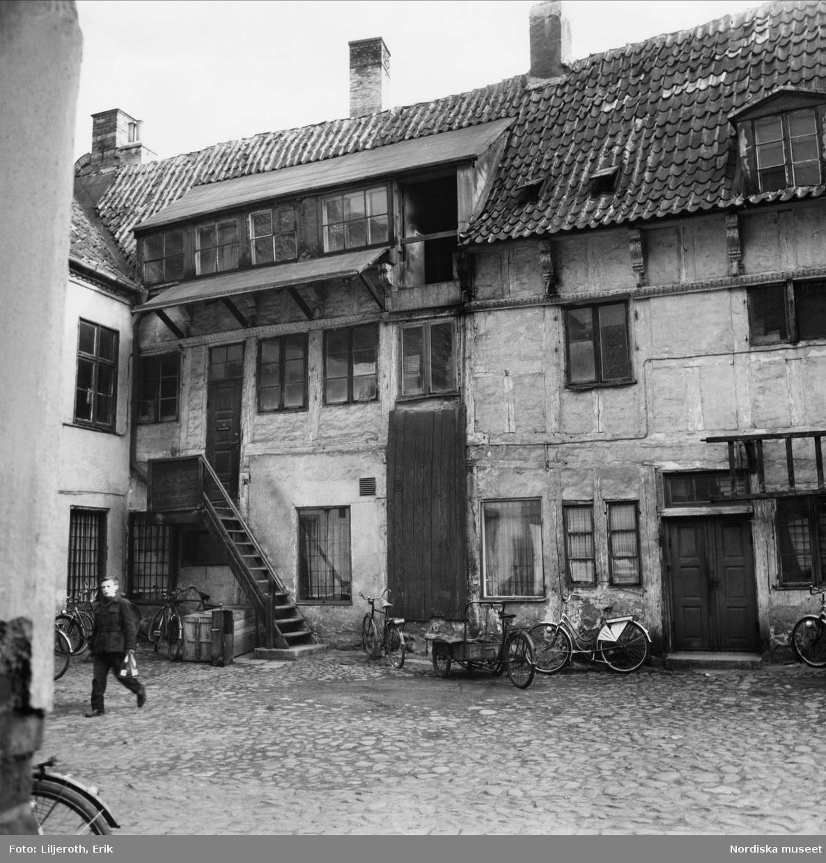 Gårdslängan på Solidars tomt, gårdsinteriör, intill Flensburska huset, Malmö.