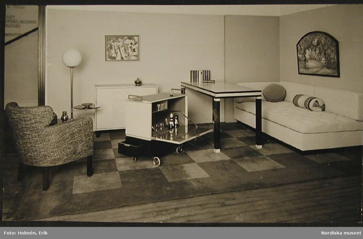 Folkhemmets rum: Vardagsrummet - Nordiska museet / DigitaltMuseum