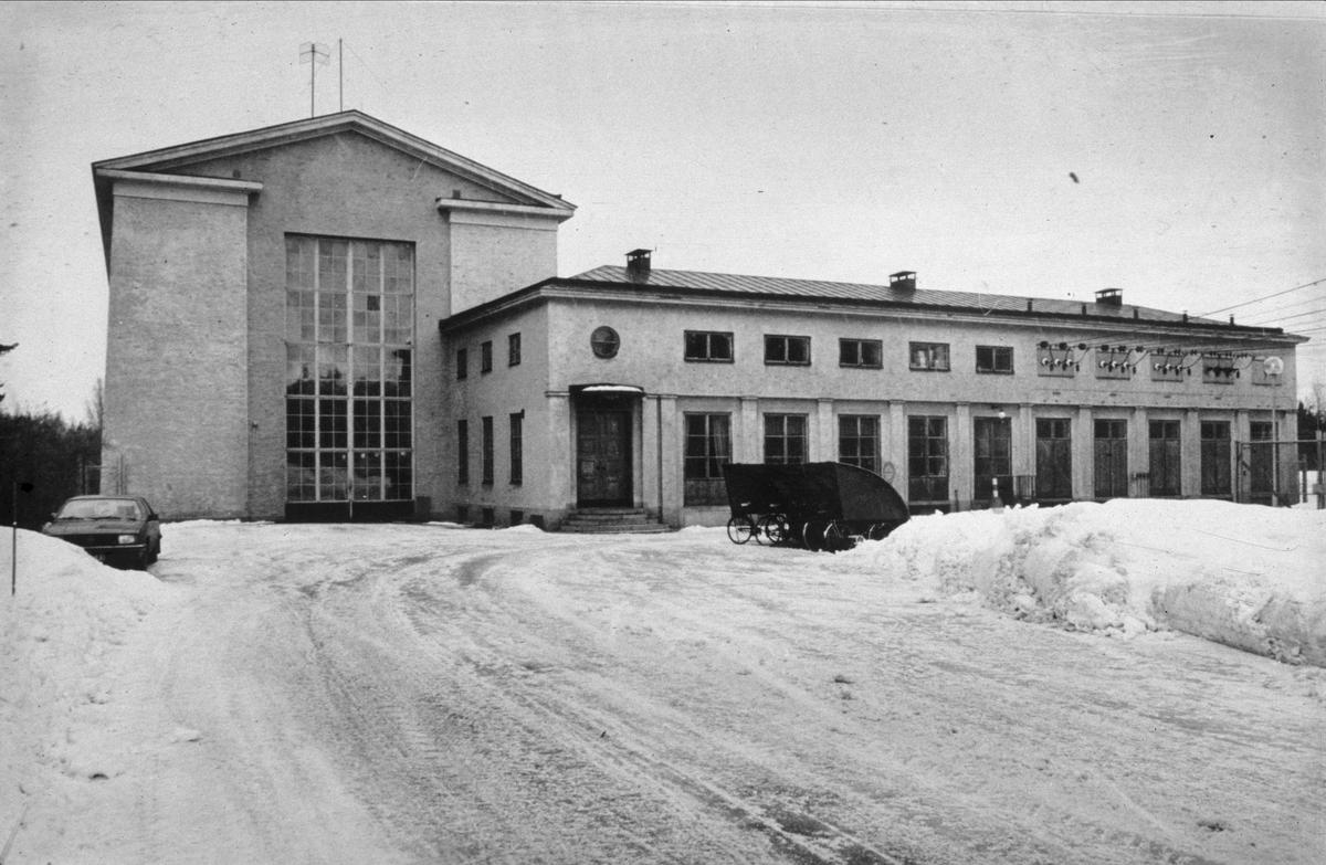 Lanforsens kraftverk, Älvkarleö, Älvkarleby socken, Uppland 1984