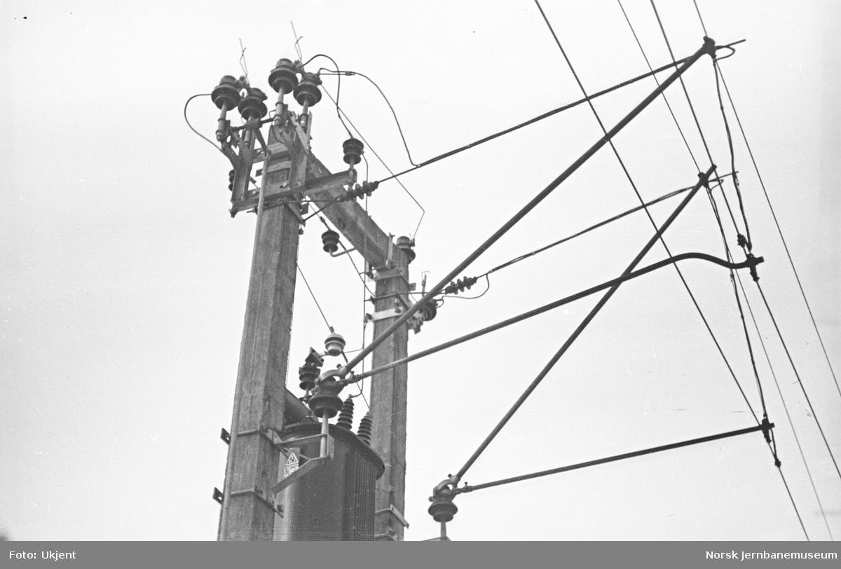 Elektrifisering av Østfoldbanen : ferdig kontaktledning