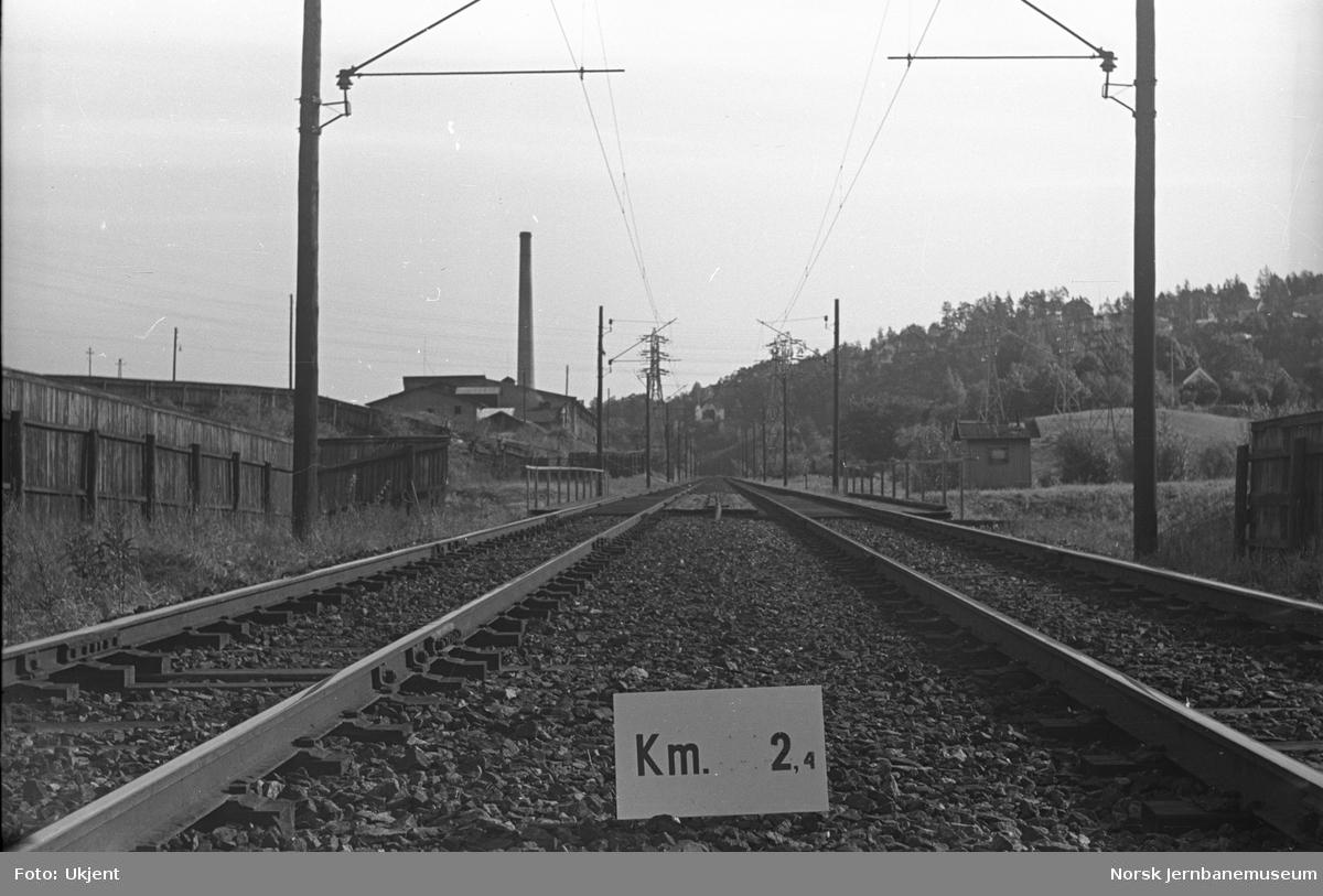 Hovedbanen : linjeføring km 2,4