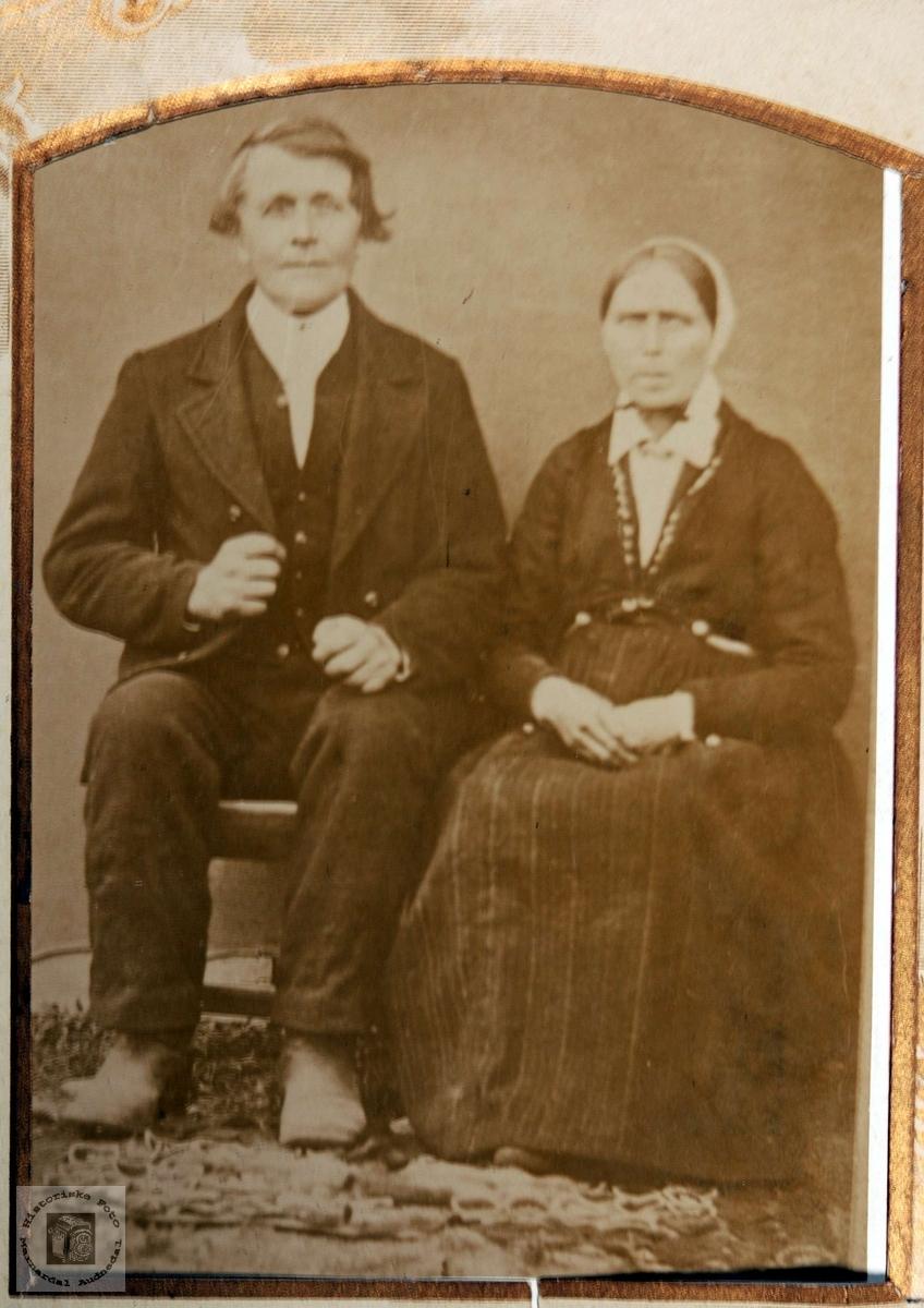 Portrett av ekteparet Gulo Barstad og Anna Maria Foråsen.